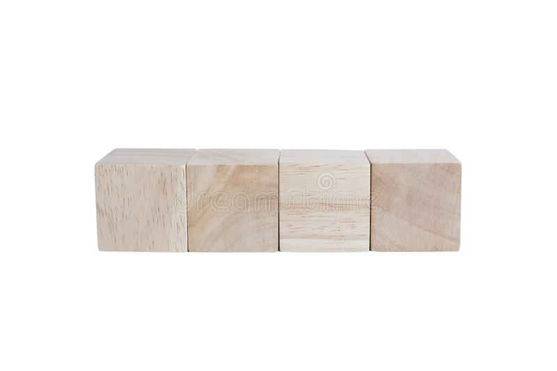 Wooden cubes with beautiful wooden textured royalty free stock photos