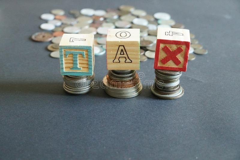 Tax and coins royalty free stock images