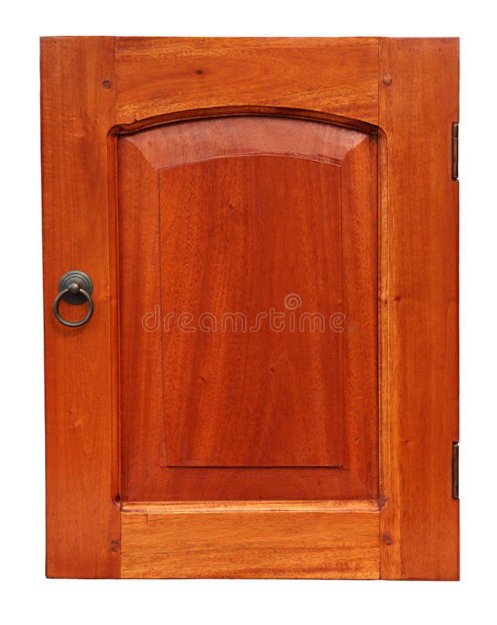 Download Wooden Cupboard Door Isolated On White Stock Photo - Image: 19694808