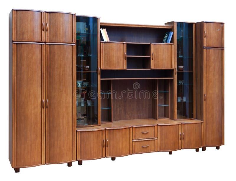 Wooden cupboard with glass doors