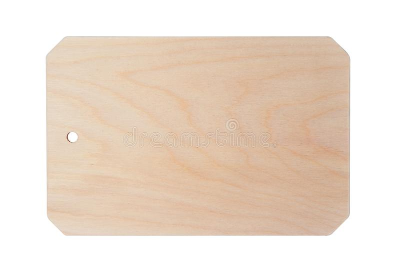 Wooden cutting kitchen Board, isolated on white. Background stock image