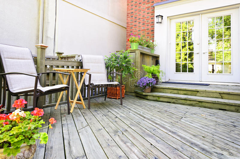 Wooden Deck At Home Stock Photography