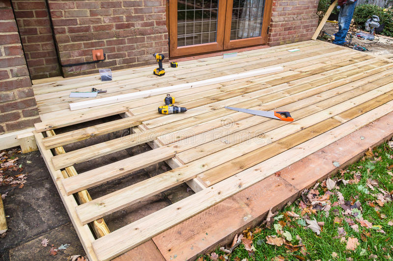 Wooden Decking Construction Stock Image Image Of