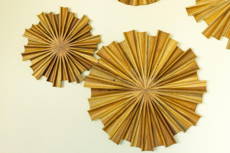 Wooden decoration on wall royalty free stock photography