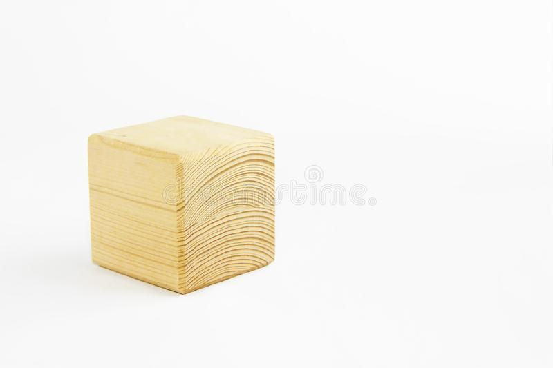 Wooden decorative cube with patterns of divorces on white background. Wooden decorative cube with patterns of divorces on a white background royalty free stock photography