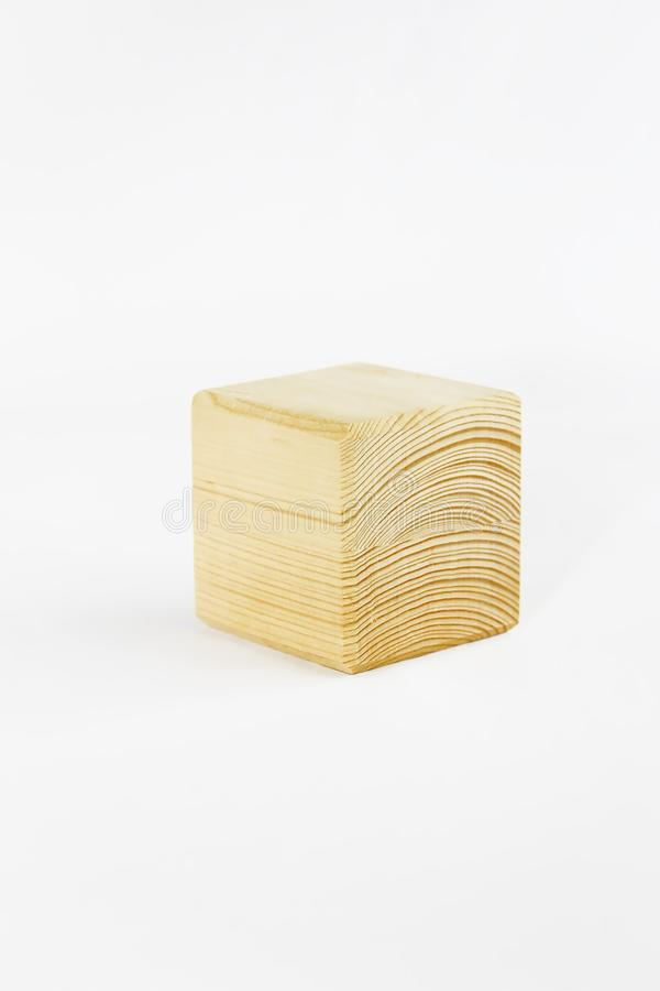 Wooden decorative cube with patterns of divorces on white background. Wooden decorative cube with patterns of divorces on a white background stock images
