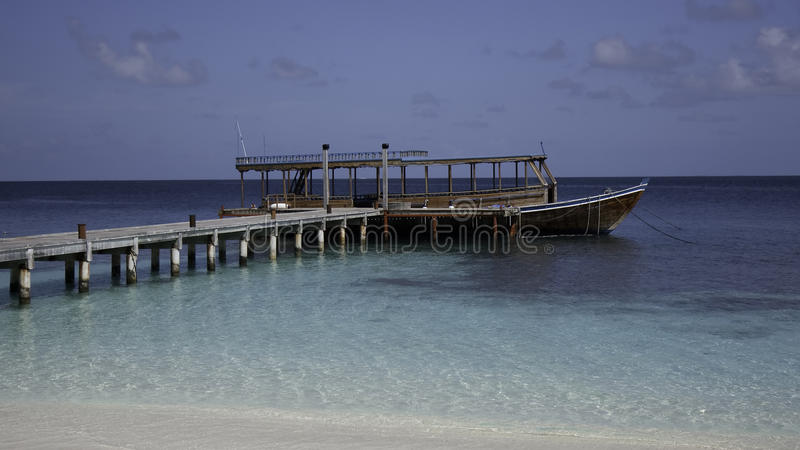 Download Wooden Dhoni At The Jetty, Maldives Stock Image - Image of beach, tropic: 11692417