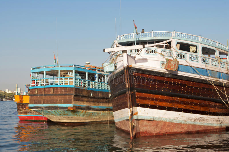 Wooden Dhows royalty free stock photo
