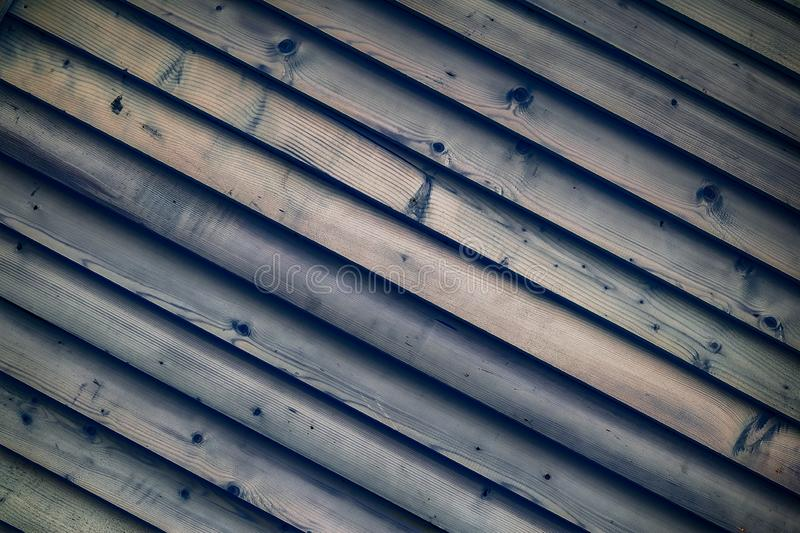 Wooden diagonal blue blanks. Textured background stock image