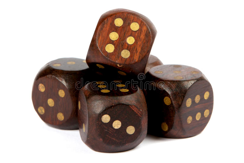 Download Wooden dice stock image. Image of gambling, gamble, number - 27757097