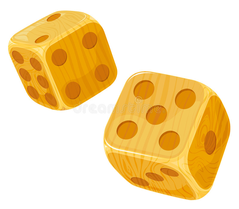 Download Wooden dice. stock vector. Image of chance, casino, cube - 8771236