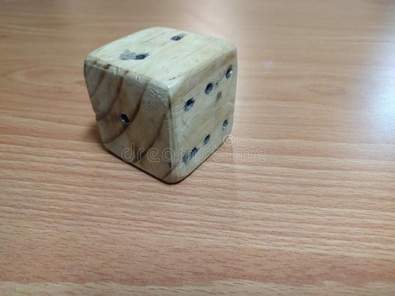 Wooden dice royalty free stock photos