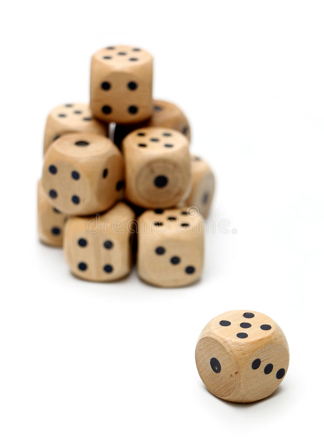 Wooden Dice stock image