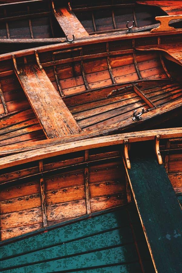 Free Wooden Dinghy Rowboat On Lake Bohinj Stock Photos - 172412143