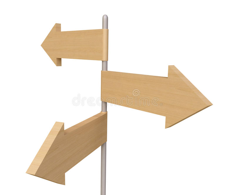 Download Wooden Direction Sign stock illustration. Image of circulation - 19097816