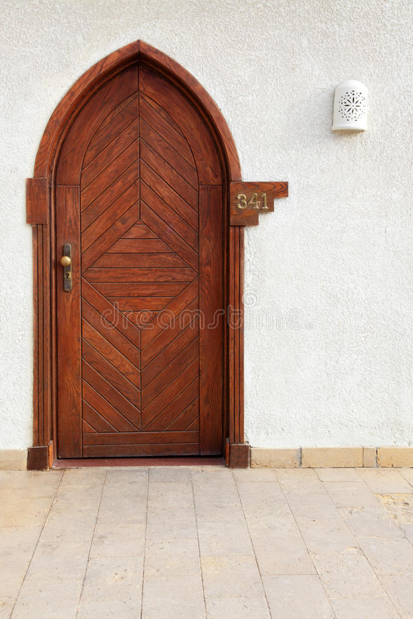 Download Wooden door stock image. Image of entrance, wall, residential - 12080661