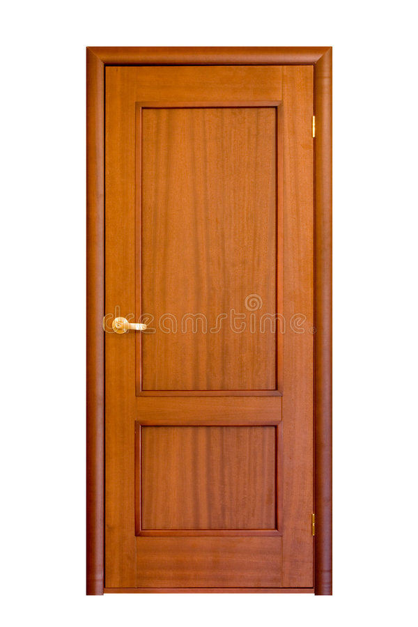 Download Wooden door #5 stock image. Image of hall, isolated, architecture - 2429929