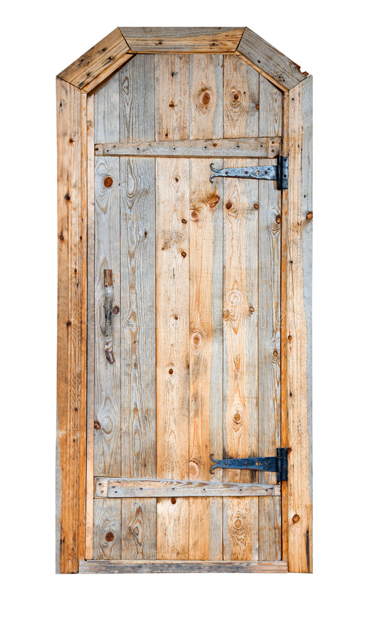 Wooden door. Beautifull wooden door on the white background royalty free stock image