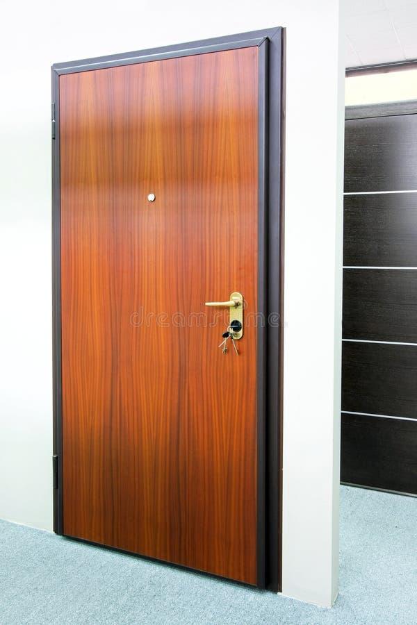 Download Wooden door stock photo. Image of close, brown, keys, portal - 7530958