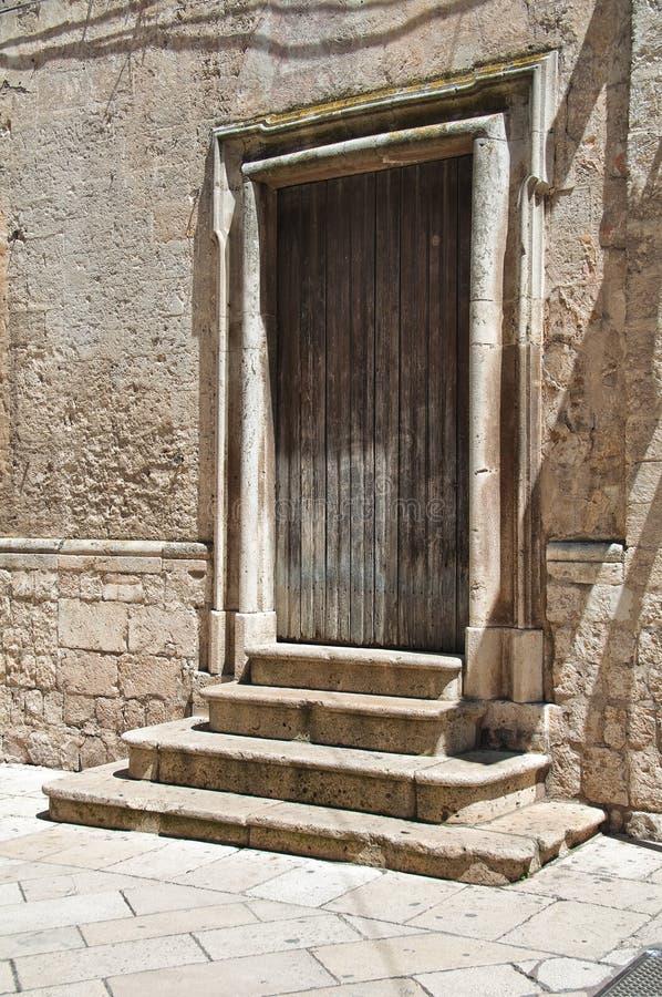 Wooden door. Altamura. Puglia. Italy. Wooden door of Altamura. Puglia. Italy royalty free stock images