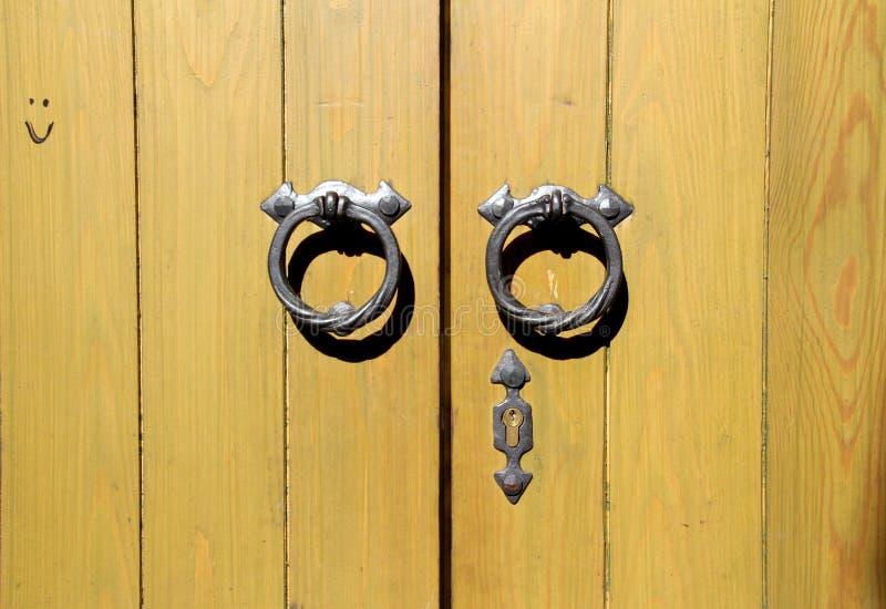 Wooden door background royalty free stock photos