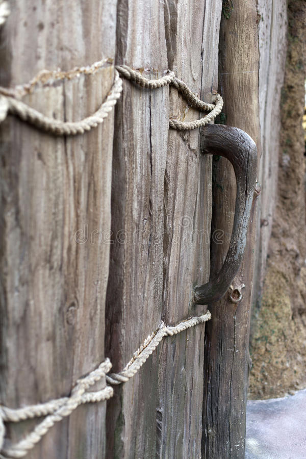 Download Wooden door is closed stock image. Image of old, doorway - 26570379