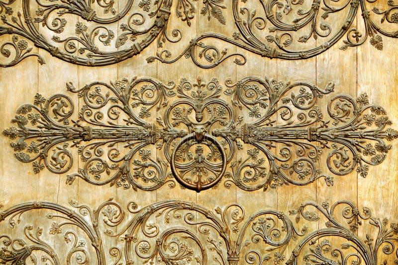 Wooden door detail stock photography