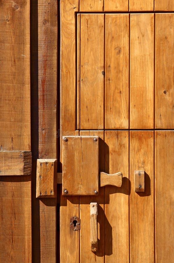 Wooden door detail