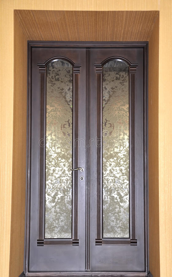 Wooden door elegant. Home interior royalty free stock photography