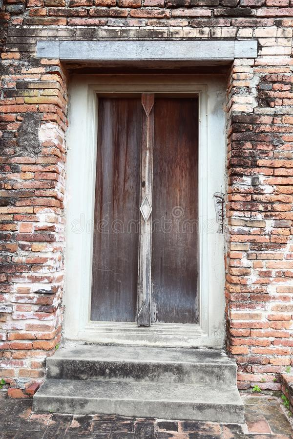 Download Wooden Door Frame In A Antique Sanctuary Stock Image   Image Of  Frame, Material