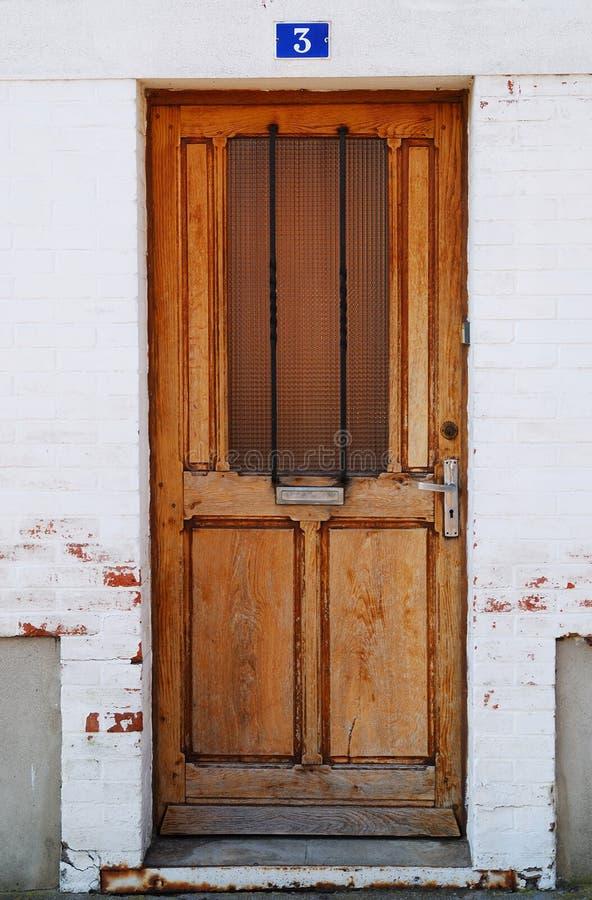 Wooden door in france stock photos