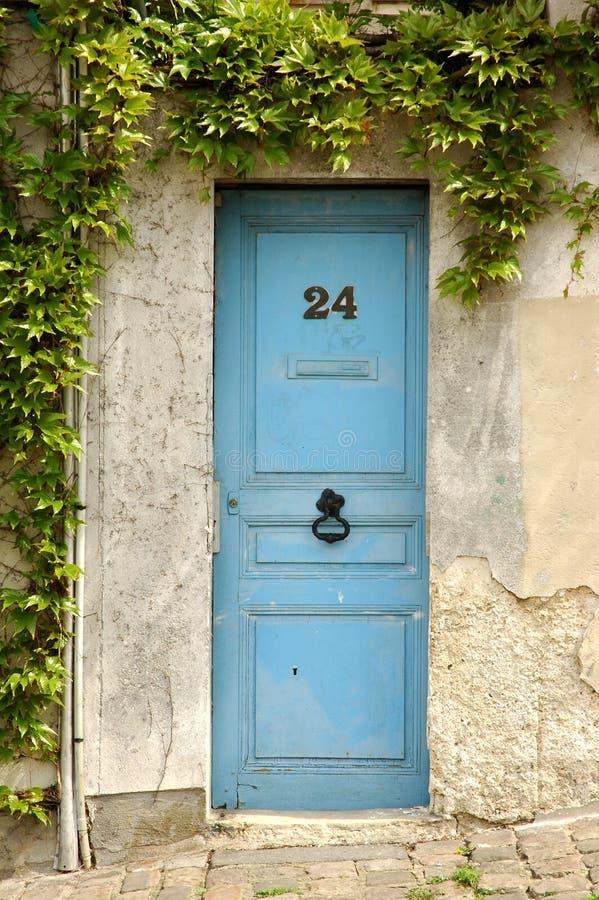 Wooden door in france stock image