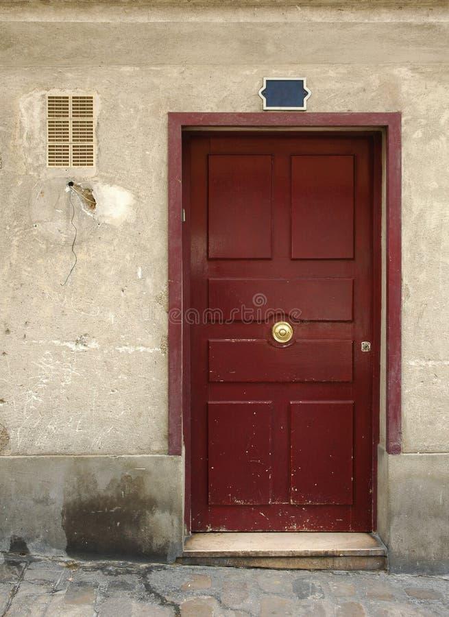 Wooden door in france royalty free stock image