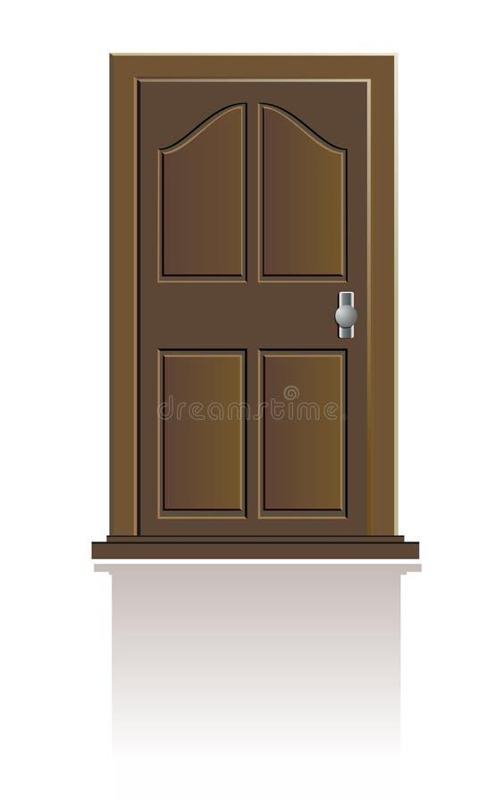 Download Wooden door isolated stock vector. Illustration of doorway - 14657547