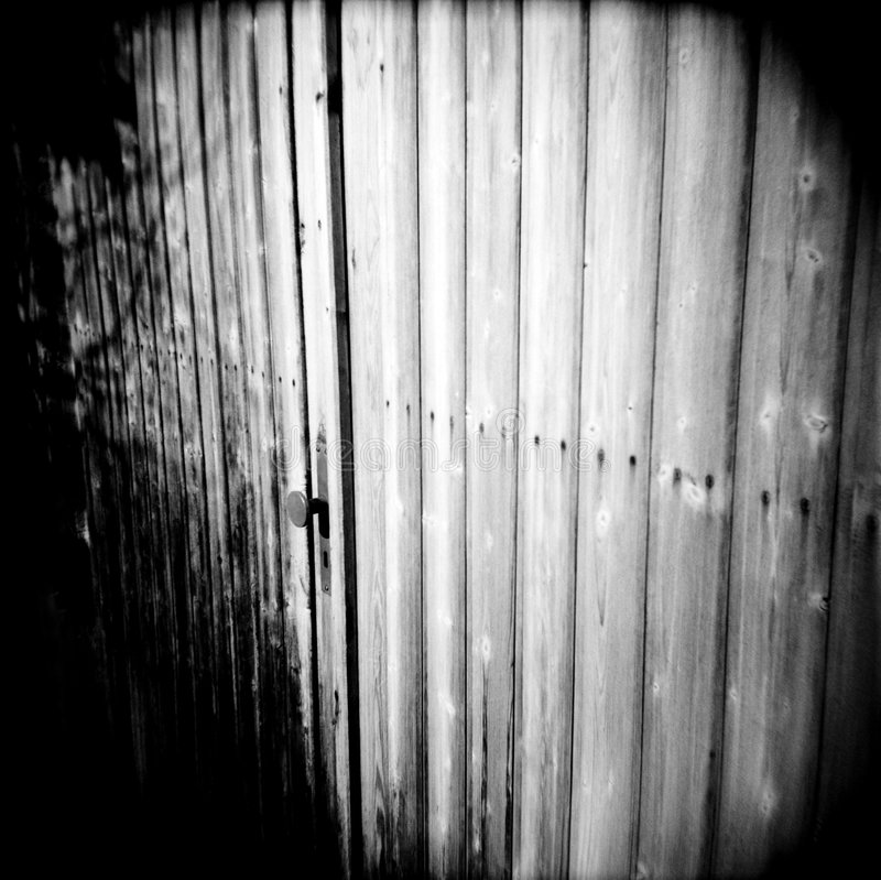 Wooden door (lomo) royalty free stock photography