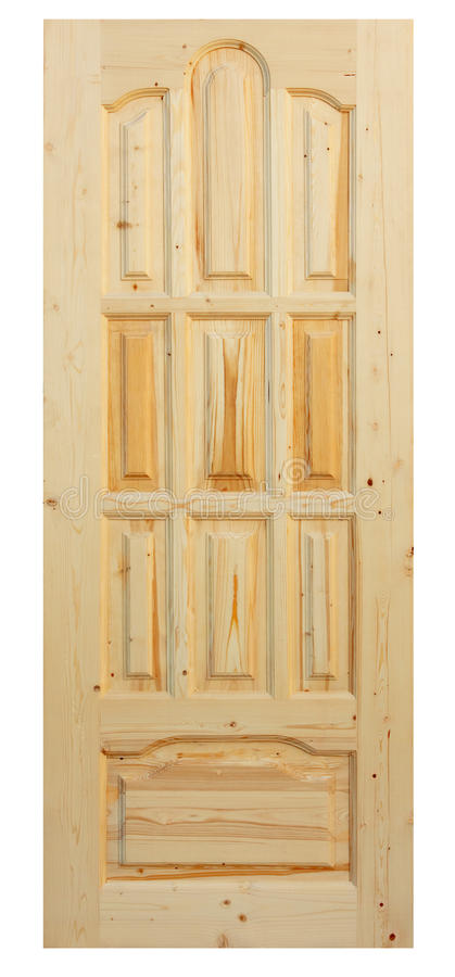 Download Wooden Door Made Of Coniferous Tree Stock Photo - Image: 14869176