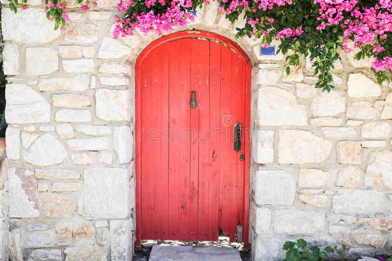 Wooden Door in Old Datca, Turkey royalty free stock photo