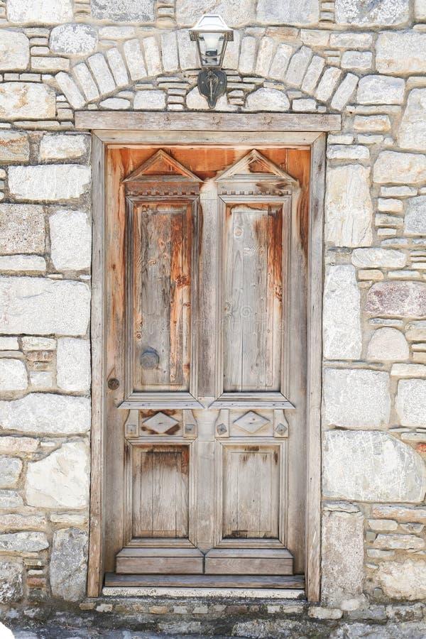 Wooden Door in Old Datca, Turkey. Wooden Door in Old Datca Village, Turkey royalty free stock photos