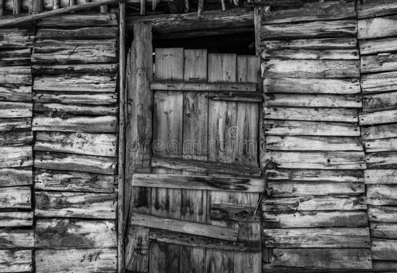 Wooden door. An old wooden door on a mountain village royalty free stock images
