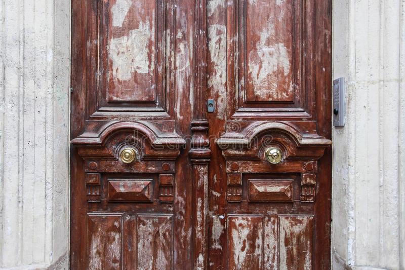 The wooden door stock photography
