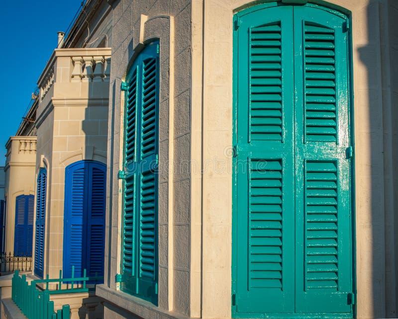 Wooden Door Shutters Street Stock Image - Image: 36134311