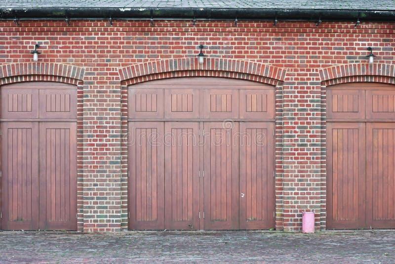 Wooden doors stock image