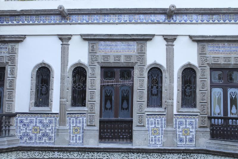 Wooden doors, Casa de los Azulejos, CDMX royalty free stock photography