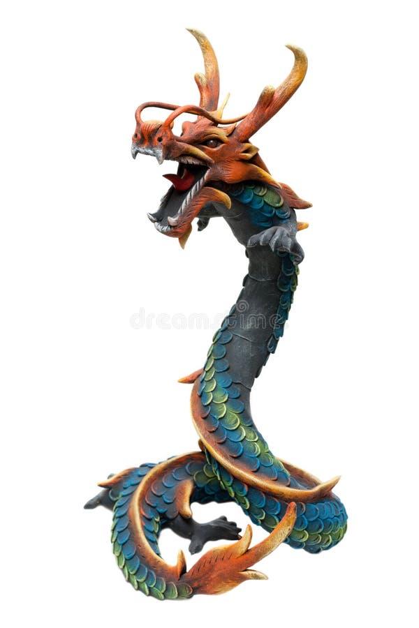 Wooden dragon royalty free stock photos