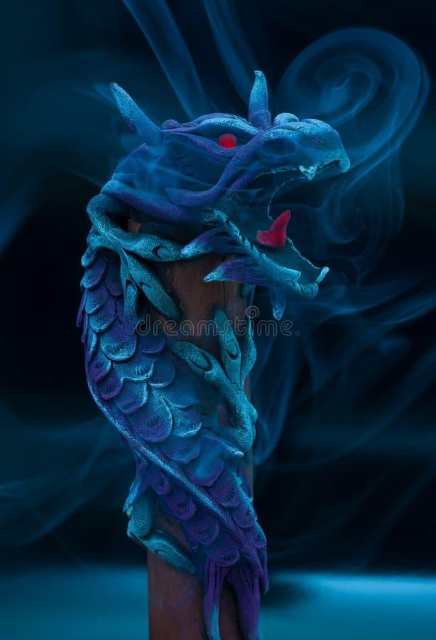 Wooden dragon. stock photos