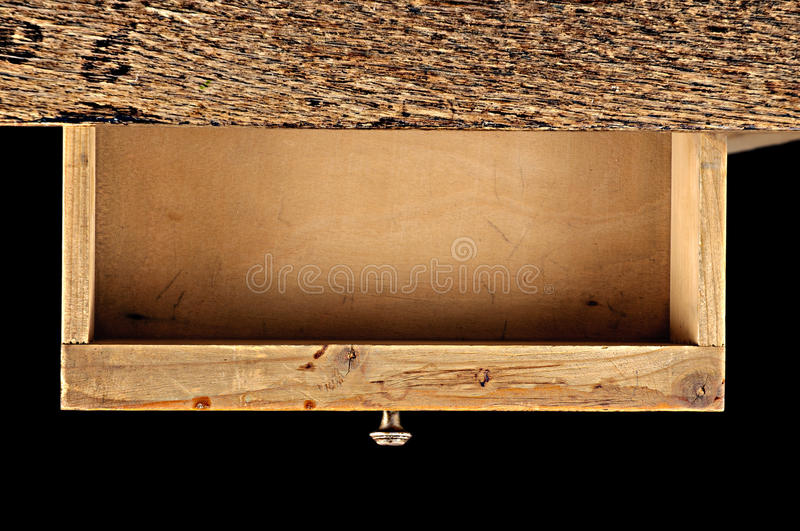 Wooden drawer royalty free stock images