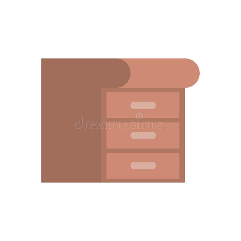 Wooden drawer isolated icon. Vector illustration design stock illustration