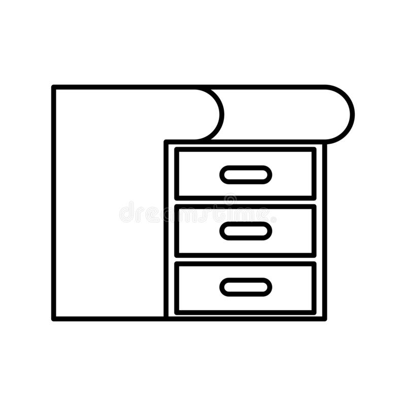 Wooden drawer isolated icon. Vector illustration design vector illustration