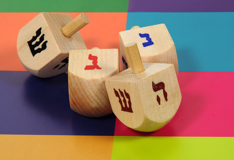 Wooden Dreidels 2 royalty free stock images