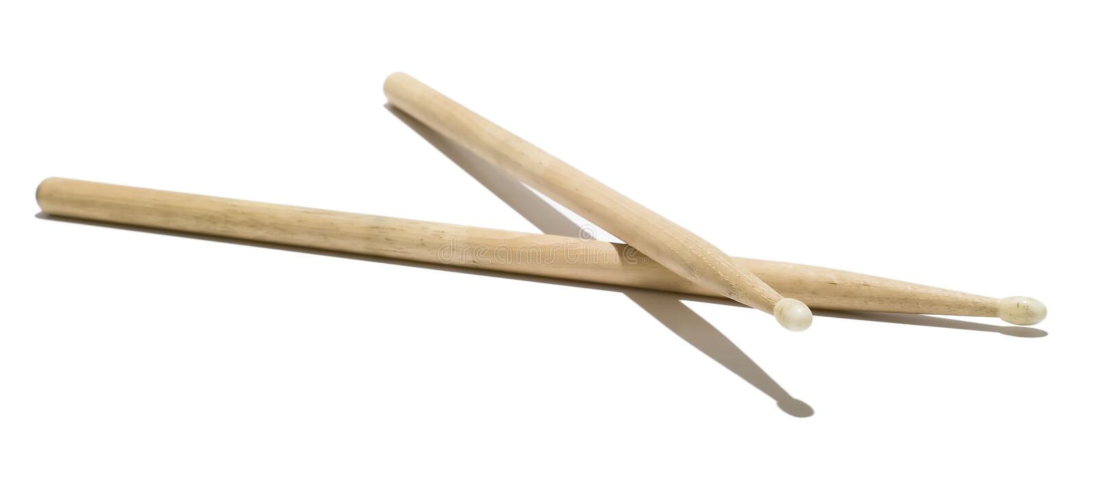Wooden drumsticks stock photography